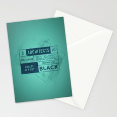 Architects wear black Stationery Cards