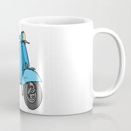 Blue motor scooter (vespa) Coffee Mug