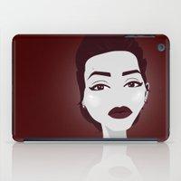 angelina jolie iPad Cases featuring ANGELINA JOLIE by Fillipa Lara