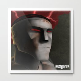 Rusty Joints Portrait - Airbrush Style - Feature Study Metal Print