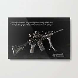 2nd Amendment Metal Print
