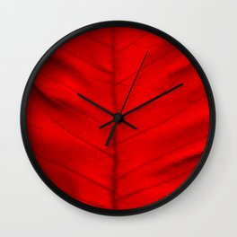 Poinsettia's leaf Wall Clock