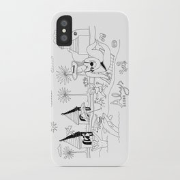 Funny Figurative Line Drawing of Alys Beach Community on 30a iPhone Case