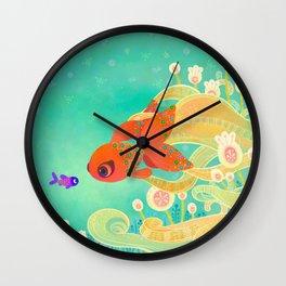 The golden meeting Wall Clock