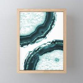 Agate Glitter Glam #9 #gem #decor #art #society6 Framed Mini Art Print