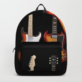 Four Electric Guitars Backpack