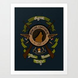 Sgt Bucky Barnes (green) Art Print