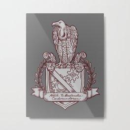 Nolite Te Bastardes Carborundorum_Burgandy Crest Metal Print