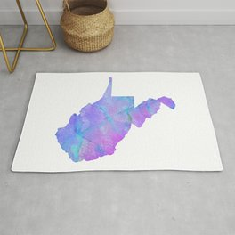 West Virginia State Map Painting Print Rug