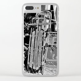 Old Sled- horizontal Clear iPhone Case