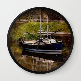 Little River Boat. Wall Clock