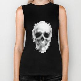 white skull  Biker Tank