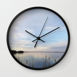 Twilight Serenity - Clouds and reflections on University Bay Wall Clock