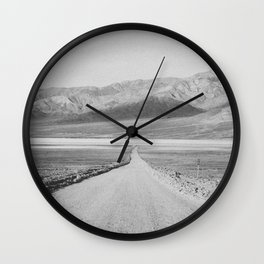ON THE ROAD XIII (B+W) Wall Clock