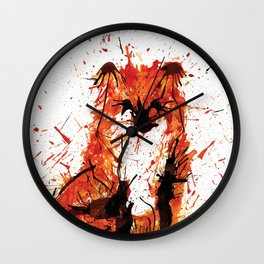 Sitting Fox Wall Clock