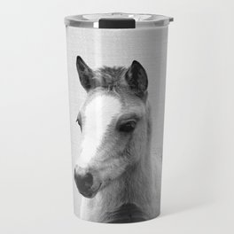 Baby Horse - Black & White Travel Mug