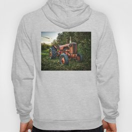 Vintage old red tractor Hoody
