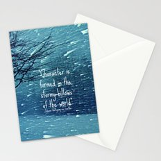 CHARACTER IS FORMED IN A BLIZZARD  Stationery Cards