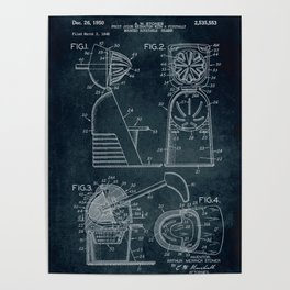 1948 - Fruit juice extractor patent art Poster