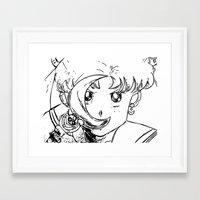 sailormoon Framed Art Prints featuring Sailor Pop by Karen McLendon
