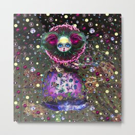 Black Forest Bride Metal Print