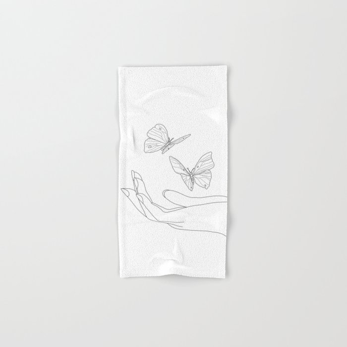 Butterflies on the Palm of the Hand Hand & Bath Towel