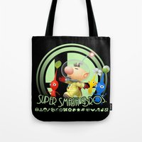 smash bros Tote Bags featuring Olimar - Super Smash Bros. by Donkey Inferno