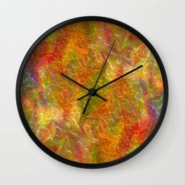 Digital floral background Wall Clock