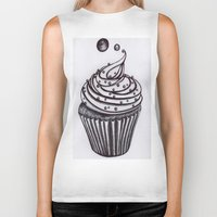 cupcake Biker Tanks featuring Cupcake by AGalaxyWithin