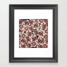 Vintage Flowers At Night #society6 Framed Art Print