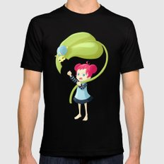 Stupid Snail Black MEDIUM Mens Fitted Tee