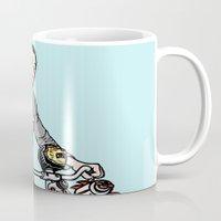 pee wee Mugs featuring Pee Wee Herman by Michael Scarano
