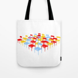25 Chairs Tote Bag