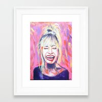 allyson johnson Framed Art Prints featuring Betsey Johnson by AntiPosi
