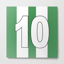 Camisa 10 green Metal Print