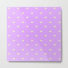 Deaddy Bear All Over Print Lavender Metal Print