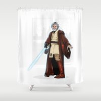 jedi Shower Curtains featuring Old jedi  by Akyanyme