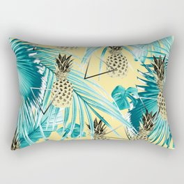 Tropical Pineapple Jungle Geo #1 #tropical #summer #decor #art #society6 Rectangular Pillow