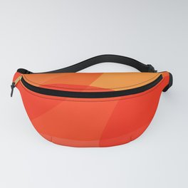 Abstract Organic Shapes in Red Fanny Pack