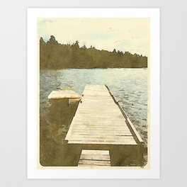Lily Bay Dock Art Print