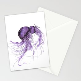 Neanderthal Pacific Sea Nettle, Burgundy  Stationery Cards