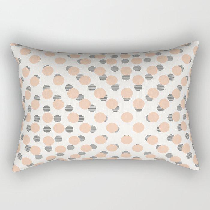 Black & Pink Polka Dots Rectangular Pillow