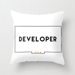 Developer stickers 2 in 1 Throw Pillow