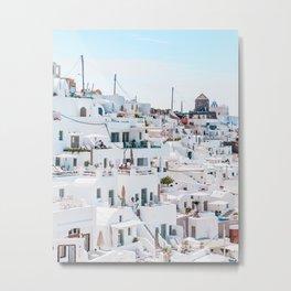 Greek Village Metal Print