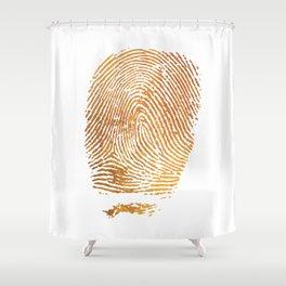 Gold Fingerprint Shower Curtain