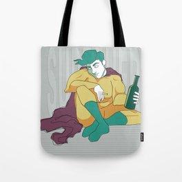superhero´s tragedy Tote Bag