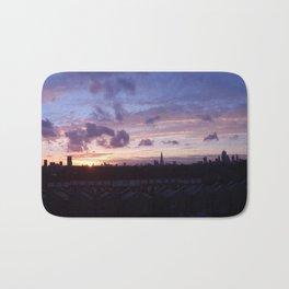 London Sunset Panorama: Pink & Gold Bath Mat