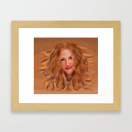 Julorobani - Julia Roberts portrait Framed Art Print