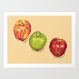 crispy apples Art Print