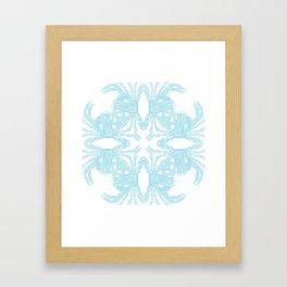 Crab Kaleidoscope Framed Art Print